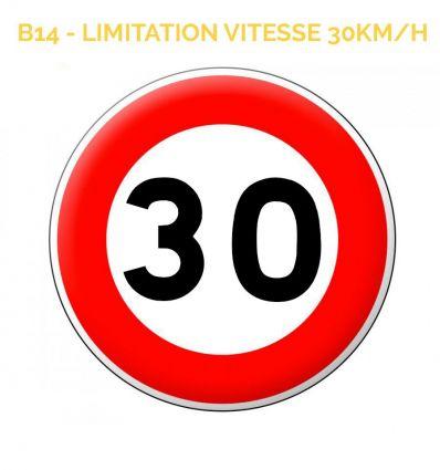 B14 - Panneau limitation de vitesse qui notifie l'interdiction de dépasser la vitesse 10Km/H Mysignalisation.com
