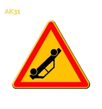 AK31 - panneau routier temporaire accident Mysignalisation