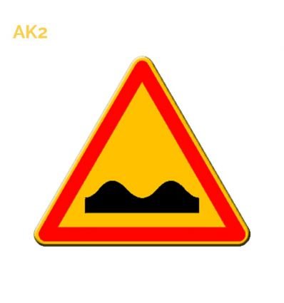 AK2 - panneau routier temporaire Cassis ou dos d'âne Mysignalisation