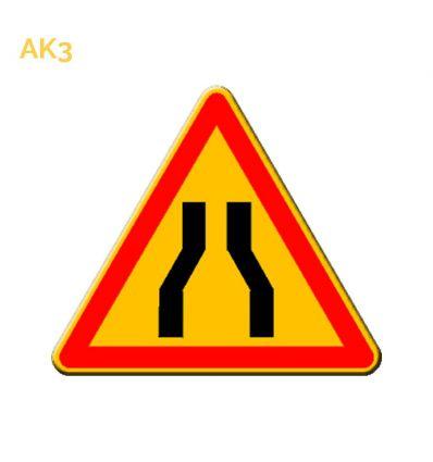 AK3 - panneau routier temporaire chaussée rétrécie Mysignalisation