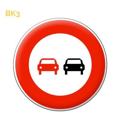 BK3 - Panneau dépassement interdit Mysignalisation.com